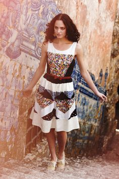 Ivete Patchwork Dress - Anthropologie. kinda ridiculous, but I love it so