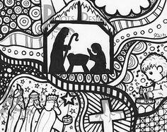 scene coloring – Etsy