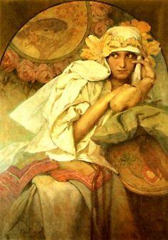 1 parte.  imagen de la mujer en el estilo del Art Nouveau.     Taller Creativo Marina Trublinoy