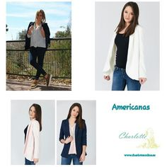 Sábado☁ Nuestras americanas  el complemento perfecto para estos dias de primavera . www.charlotteonline.es