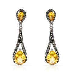 Citrine Gold Earrings