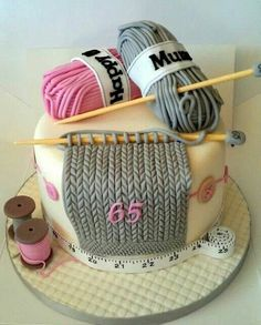 Torta tematica tejido