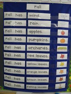 super cute fall printables! via: First Grade Garden: Morning Meeting Ideas and Fall Freebies