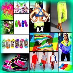 neon gym wear Yoga Fashion, Fitness Fashion, Love Fitness, Gym Gear, Gym Style, I Work Out, Sport Wear, Workout Wear, Sexy Body