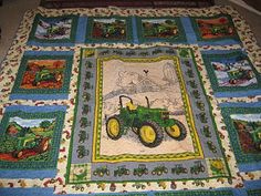 LOVE this tractor quilt!! this will be my craft for the summer! :)