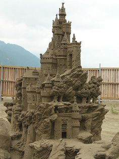 Sand Castle competition; Harrison Hot Springs, BC
