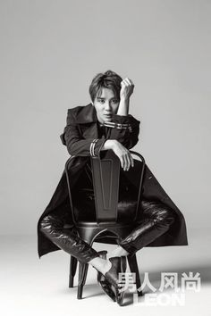 JYJ's Junsu is charismatic in stylish black and white photos for 'Leon China' | allkpop.com