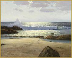 Ocean Scene Porfirio Salinas - He painted only 5 seascapes.