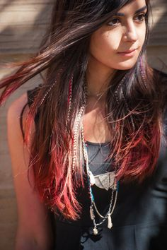 The contrast of the color of her hair and the chalk makes for an extreme pop! <3 #FFHPINKLOVE