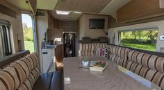 Interior of the funky and nimble Freestyle 2 motorhome from Wilderness