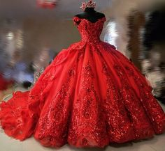 Wonderful Perfect Wedding Dress For The Bride Ideas. Ineffable Perfect Wedding Dress For The Bride Ideas. Xv Dresses, Quince Dresses, Ball Dresses, Ball Gowns, Red Wedding Dresses, Luxury Wedding Dress, Perfect Wedding Dress, Yellow Wedding, Sweet 16 Dresses