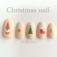 What Christmas manicure to choose for a festive mood - My Nails Ten Nails, Xmas Nails, Christmas Nail Designs, Christmas Nail Art, Christmas Trees, Love Nails, Pretty Nails, Nail Art Courses, Halloween Nail Art