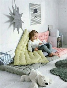 love these pillows for the kids room, so comfy!