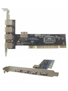 PCI Card USB 2.0 4+1port   PCI card untuk mainboard komputer anda yang kekurangan port usb.  Terdiri dari 4 port USB 2.0 di luar CPU dan 1 port USB 2.0 di dalam CPU.  Pemasangan dan instalasi nya sangat mudah.  PCI USB 2.0 Multimedia 4-port PCI USB Adapter - 4 x USB 2.0 USB External, 1 x USB 2.0 USB Internal  Features:  - Host Interface: PCI - Total Number of USB Ports: 4 + 1  Harga rp65.000 Info detail di : www.tokomipo.com Pci Card, Audio, Music Instruments, Musical Instruments