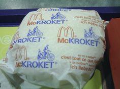 McKroket! Love it LOL