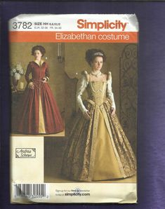 Simplicity 3782 Queen  Elizabeth Inspired Gowns by DaisyMaeandMe, $18.00