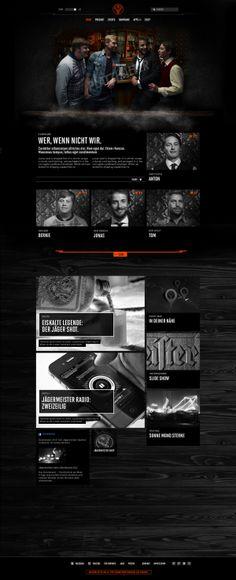 Jägermeister Relaunch & Global Digital Styleguide by Mike John Otto, via Behance