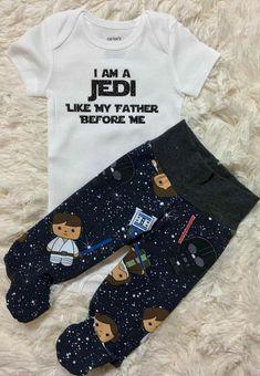 Star Wars Bebé crezca Regalo Ducha Traje Chicos Chicas Jedi como mi padre