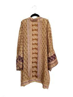 Silk Kimono jacket / cover up in black and pink | Silk kimono ...