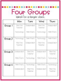 Part Schedules for Math Centers - Not So Wimpy Teacher - Mathe Ideen 2020 Maths Guidés, Math Classroom, Teaching Math, Math Math, Classroom Ideas, Math Games, Multiplication, Math Activities, Guided Reading Activities