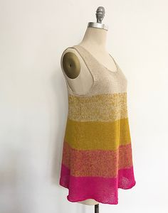 Ravelry: Ombre Tank Redux pattern by Espace Tricot