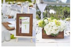 Frame Table Number and simple floral decoration