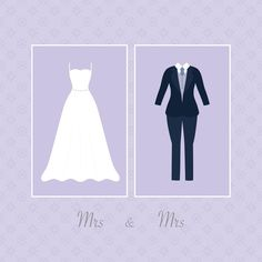 This elegant same sex Wedding card is perfect for a stylish pair of beautiful brides. Sometimes the simple designs turn out to be the best and in this case, it's very true!