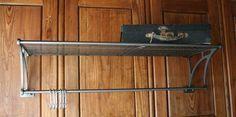 Vintage Industrial Style Railway Carriage Hat Rack Coat Hook Pan Hanger Shelf | eBay