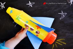 We really are in a space kind of mood since our solar system play dough activity and toilet paper roll space shuttlesthat making a rocket seemed like a necessary thing to do :). We used a recycled soda bottle that I had leftover from making our recycled soda bottle flowersand added in some more recycled …
