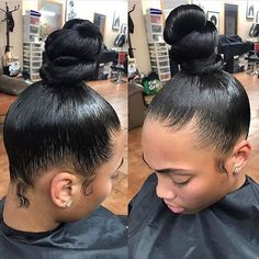 Dope Hairstyles, Ponytail Hairstyles, Weave Hairstyles, Hairstyle Ideas, Updos, Curly Hair Tips, Curly Hair Styles, Natural Hair Styles, Black Hair Bun