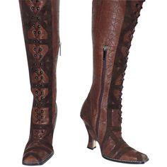 depot vente de luxe en ligne CHRISTIAN DIOR bottes cannage en cuir et daim marron- On sale eshop luxe www.tendanceshopping.com