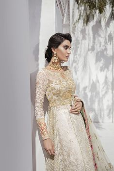 Pakistani Designer Dress Cost And Where To Buy Them In India? Nikkah Dress, Shadi Dresses, Pakistani Formal Dresses, Pakistani Wedding Outfits, Pakistani Bridal Dresses, Pakistani Dress Design, Bridal Outfits, Pakistani Sharara, Wedding Attire