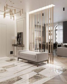Beautiful Wall Partition Design Ideas For Your Home - Engineering Discoveries Home Room Design, Interior Design Living Room, Living Room Designs, Living Room Decor, Room Interior, House Design, Living Room Partition Design, Room Partition Designs, Flur Design