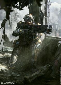 Black Ops III - Prophet by karakter design studio —– Empyrean Domain: showcasing Sci Fi, War, Horror and Fantasy. Follow for daily cyber-updates