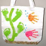 Handprint Fish/ Footprint Seaweed Tote Bag