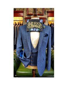 The Herringbone Tweed . Available in our Formal Hire Department NOW.  #tweed #wedding #brideandgroom