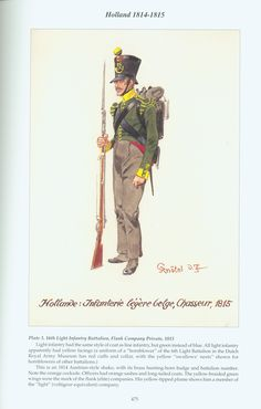 Holland: Plate 3. 16th Light Infantry Battalion, Flank Company Private, 1815