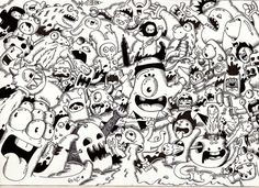 Doodle: Random Doodle #9 (Monster invasion) by RedStar94.deviantart.com on @deviantART