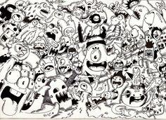 Doodle: Random Doodle #9 (Monster invasion) by RedStar94.deviantart.com on @deviantART