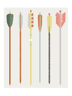 Indian Summer Arrows Print. €16,00, via Etsy. Vintage kids print