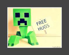 8x7 Print MineCraft Creeper. $10.00, via Etsy.
