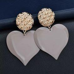 Heart Earrings, Diamond Earrings, Jewelry, Fashion, Moda, Jewlery, Bijoux, La Mode, Jewerly