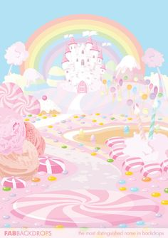 Candy Castle of the Sickly Sweet Dessert Kingdom Backdrop