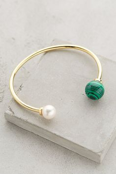 Malachite Orbit Bangle - anthropologie.com #anthrofave