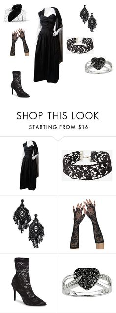 """Vairë, The Silmarillion"" by emilienorwood on Polyvore featuring Moschino, Kate Spade, Charles by Charles David, Ice and Philip Treacy"