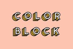 Ad: Color Block - Colored Font by The Routine Creative on Welcome to the world of colored fonts! Color Block is super fun, modern and most importantly colorful! This jazzy display font is sure to Creative Typography, Typography Fonts, Typography Design, Vintage Typography, Typography Alphabet, Japanese Typography, Creative Fonts, Script Lettering, Serif Font