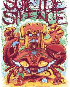 Suicide Silence - Warped Tour Tee 2010 by Chad Manzo, via Behance