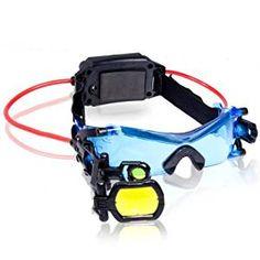 Spy Gear 6021576 - Occhiali per la Visione Notturna con Lenti di Night Googles Nuovi occhiali per visione notturna LED blu per la visione fino a 7,5 metri Accessoriato con lente di ingrandimento Con mirino 2X retrattile