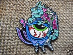 """Trippy Eyeballs"" Pin FREE SHIPPING (Heady Festival Dab Hat Pins)"