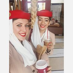 Early morning Smiles & Coffee with EKat!  #Potd #RedHat #Selfie #Morning #Selfie #Coffee #Caffeine #CoffeeAddicts #Costa #Cookies #CostaCoffee #Ek #Emirates #EmiratesCabinCrew #AllSmiles #Yay #Kickstart #HappyPeople #Excited #LastDay #Countdown #Flying #CantWait #Dxb #Dubai #MyDubai #Happiness #Gratitude #Blessed #TheChicQuotient by thechicquotient